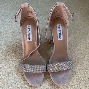 Women's Steve Madden nude/sparkly heel